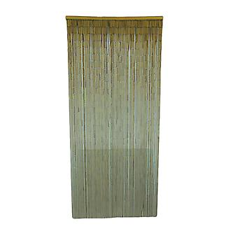 Natural Finish Bamboo String Curtain 36 inch Wide