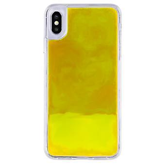 Hoesje CoolSkin Liquid Neon TPU voor iPhone X/XS Geel