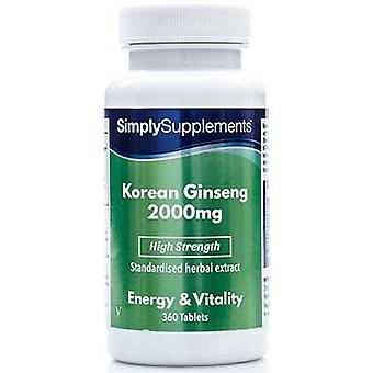 Korean-ginseng-2000mg - 360 Tablets