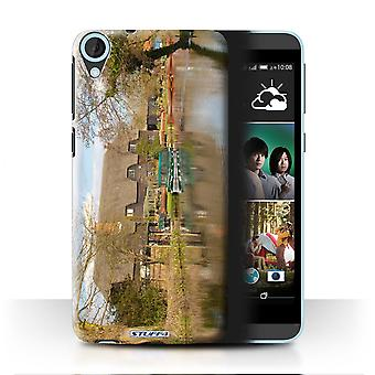 STUFF4 Case/Cover for HTC Desire 820s Dual/Cottage/British Coast