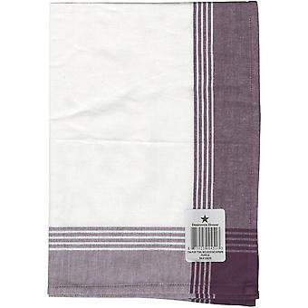 Striped McCleod serviette 20 « X 28 »-blanc & Purple 734-PUR