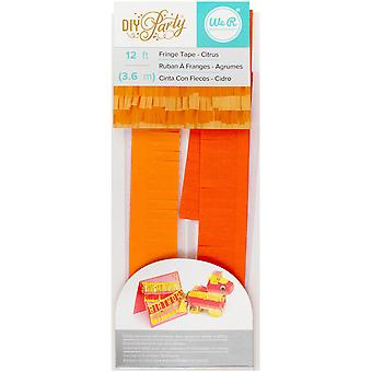 DIY Party Fringe Tape 12'-Citrus 660212