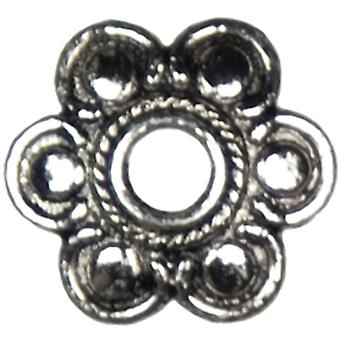 Jewelry Basics Metal Large Flower Caps 28 Pkg Silver 34708282