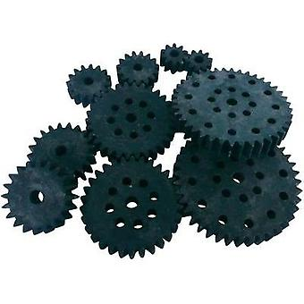 Wood, PVC Cogwheel set Modelcraft Module Type: 1.0 No. of teeth: 10, 15, 20, 30, 40 10 pc(s)