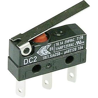 Microswitch 250 Vac 10 A 1 x On/(On) Cherry Switches DC2C-L1LC IP67 momentary 1 pc(s)