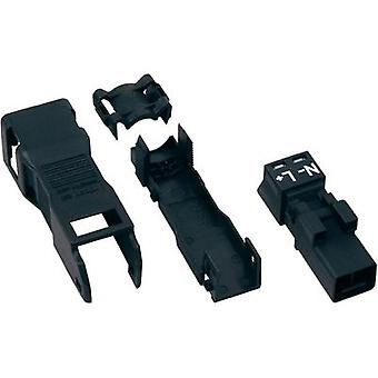 Mains connector ATT.LOV.SERIES_POWERCONNECTORS WINSTA MINI Plug, straight Total number of pins: 2 16 A Black WAGO 1 pc