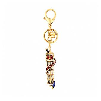 Butler and Wilson London Big Ben Crystal Keyring Chain Pendant - Gold