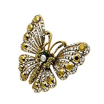 Butler & Wilson Crystal Medium Butterfly verstellbaren Ring Gold