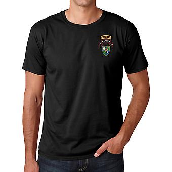 US Army 75th Ranger 1st Bn Logo - Stickerei Ringspun Baumwolle T Shirt