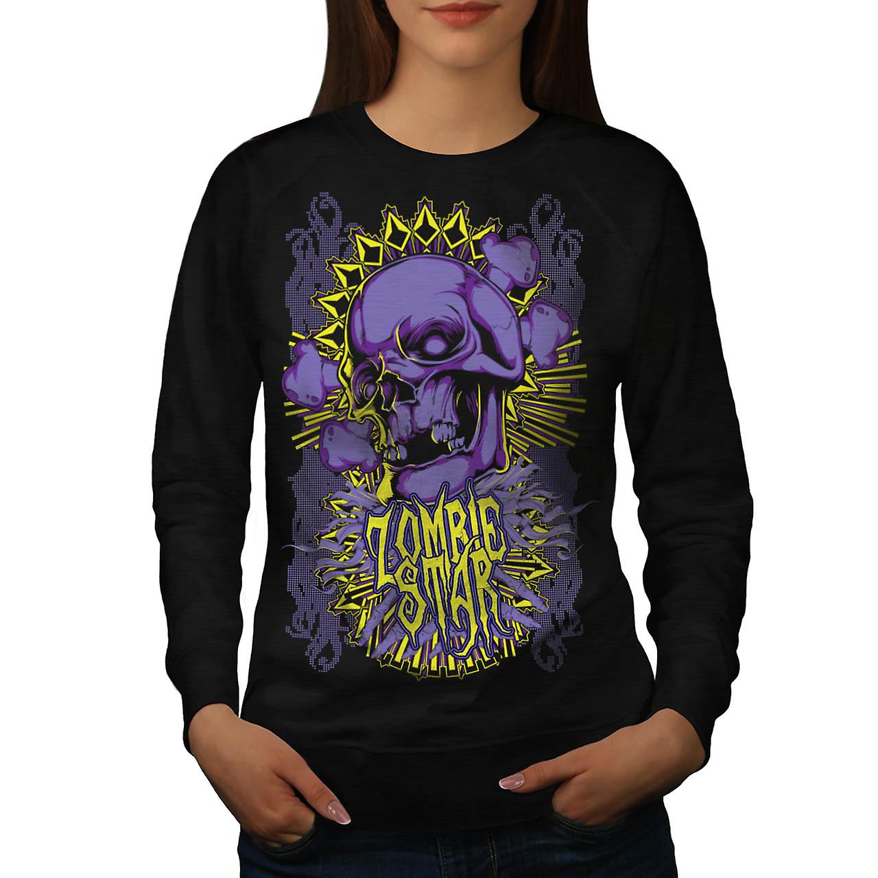 Monster Zombie Star Devils Zone Women Black Sweatshirt | Wellcoda