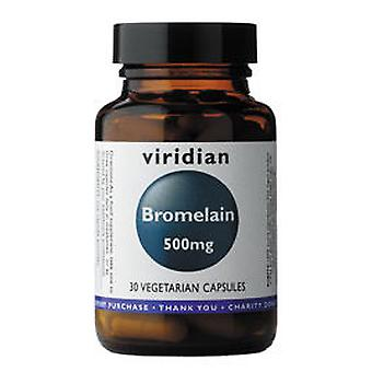 Viridian Bromelain 500 mg 30 Vegetable Capsules