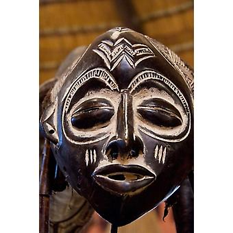 South Africa Durban Zulu tribe mask Poster Print by Cindy Miller Hopkins