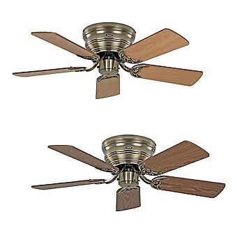 Ceiling fan Classic FLAT antique brass extra flat in various sizes