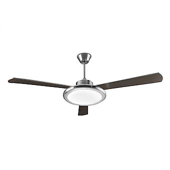 LEDS-C4 Design Ceiling Fan Bahia satin nickel 132 cm / 52