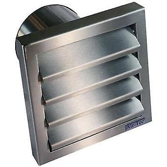 Extractor hood with backflow flap Stainless steel Suitable for pipe diameter: 10 cm Wallair N31845