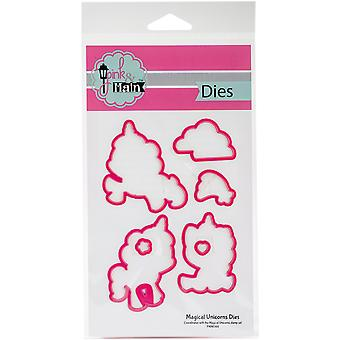 Pink And Main Dies-Magical Unicorns, 7/Pkg PNM044