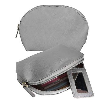 Dr Amsterdam Make up bag Mint Elephant Skin Grey