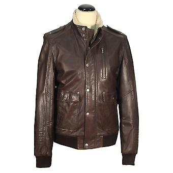 Moleto - lamb nappa jacket Shearling collar Aviator pilot of motorcycle leather jacket