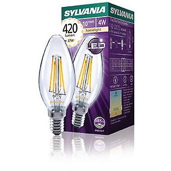 Sylvania Filament lamp Led Candle 4W E14 420lm 2700K (Verlichting , Spaarlampen)