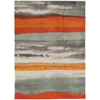 Baraki Grey & Orange Acrylic Rug