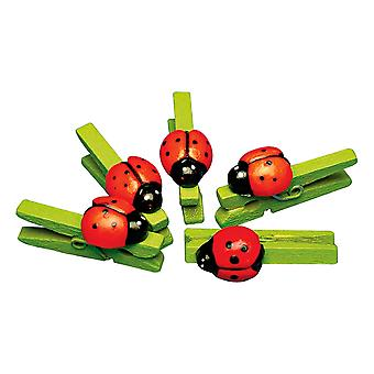 12 Ladybird Wooden Pegs | Wooden Shapes for Crafts