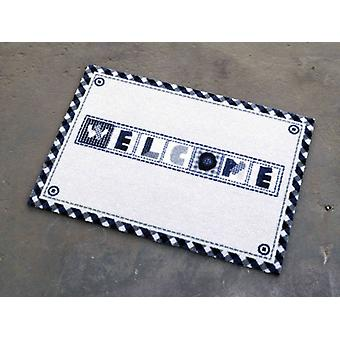 Dirt trapping pad welcome mat beige blue white 50 x 70 cm. 101936 rechargeable