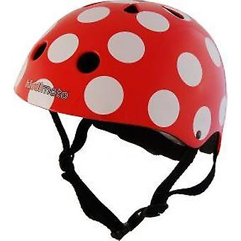 Kiddimoto Helm - rot Dotty