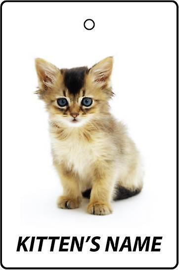 Personalisierte Somali Kitten Auto-Lufterfrischer