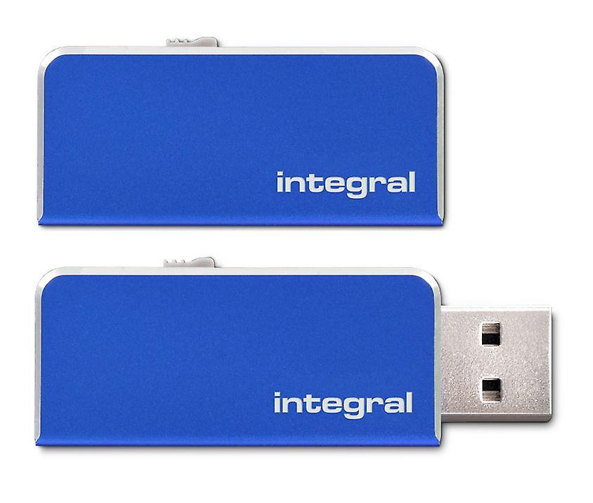 Integral 8GB CHROMA USB 3.0 Capless Flash Drive in Blue. INFD8GBCHR3.0BL