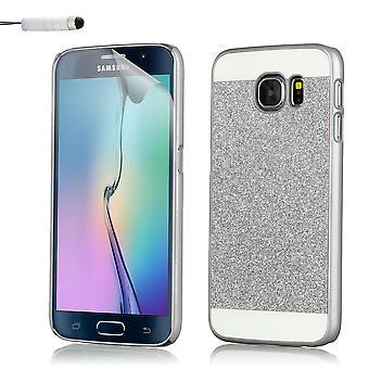 Glitter fallet för Samsung Galaxy S6 Edge SM-G925 - Silver