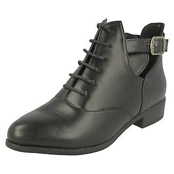 Damer plads på skåret ud ankel støvler F50403