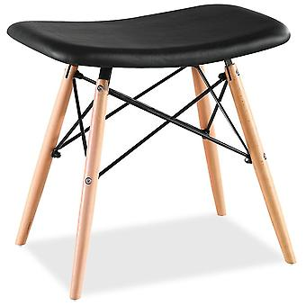 Superstudio Wood stool Crete -PU - Black Leatherette SHX003-167
