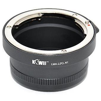 Adaptador de montaje de la lente Kiwifotos: Permite que el 99% de Leica R bayoneta montaje de lentes (Pentax, Praktica, Mamiya, Zeiss y Zenit) en cualquier cámara de la serie Nikon 1 (J1, J2, V1, V2)