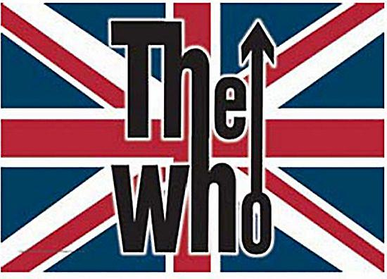 The Who Union Flag large fabric poster / flag 1100mm x 750mm (hr)
