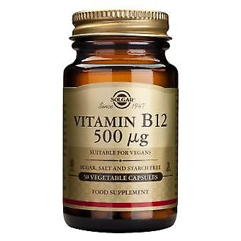 Solgar Vitamin B12 500 mcg 50 Capsules (Vitamins & supplements , Vitamins)