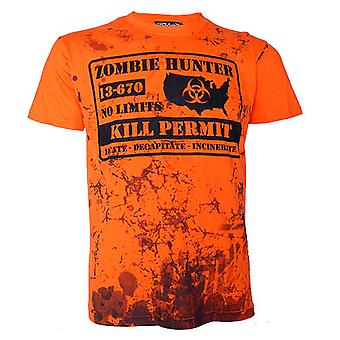 Zombie jægeren Herre T-shirt Orange
