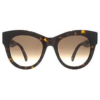 Stella McCartney New Falabella Cateye Sunglasses In Havana Gold