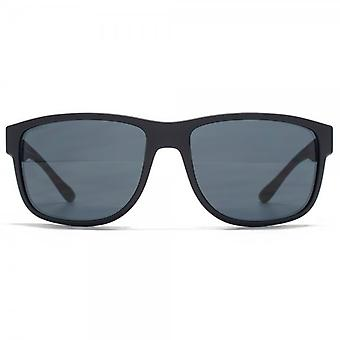 Giorgio Armani Timeless Elegance Square Sunglasses In Matte Blue