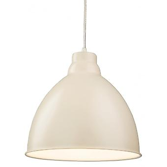 Firstlight Modern Cream Dome Shade Ceiling Pendant Light Fitting