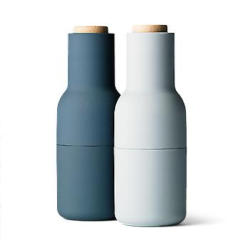 Menu Small Bottle Grinders With Wooden Top - Set Of 2 - Blues