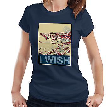 I Wish Fishing Shepherd Fairey Style Women's T-Shirt
