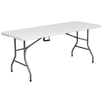 Ldk Rectangular double folding table hdpe 242x76x74 cm