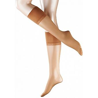 Falke Pure Matte 20 Denier Transparent Sensitive Top Matte Knee-High Tights - Powder