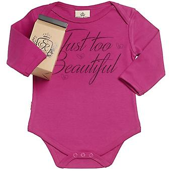 Spoilt Rotten Just Too Beautiful Organic Babygrow In Gift Milk Carton