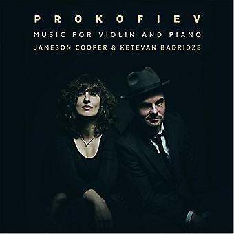 Prokofiev / Cooper, Jameson / Badridze, Mickael - Prokofiev: musik for Violin & Piano [CD] USA import