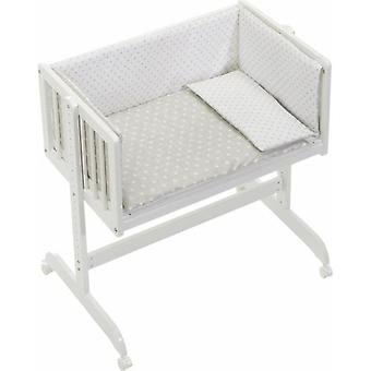 Interbaby Cradle co-Sleeping med tekstil Star Beige