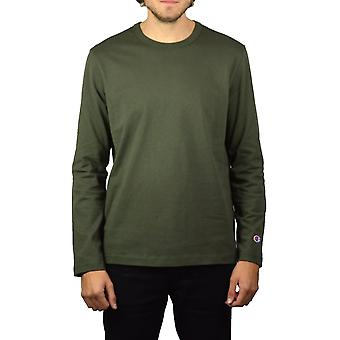 Champion Basic Long-Sleeved T-Shirt (Olive)