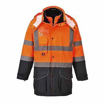 Portwest - Hi-Vis Safety Workwear 7-in-1 Contrast Traffic Jacket