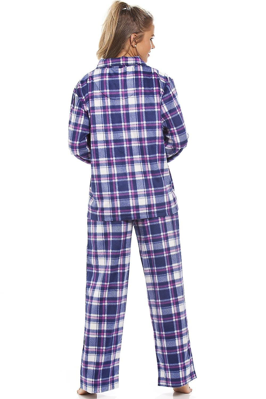 Camille Purple Checkered Fleece Pyjama Set