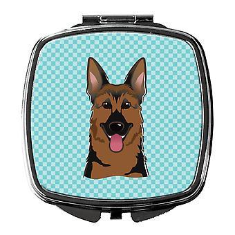 Carolineøerne skatte BB1149SCM skakternet blå schæferhund kompakt spejl